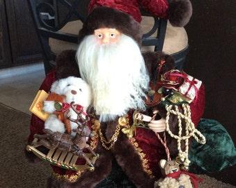 Vintage Santa Clause Christmas porcelain doll