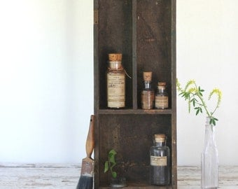 vintage collection of old chemistry bottles / apothecary decor