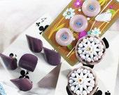 Vintage Lavender Butons, Retro Buttons, Celluloid Buttons - B26