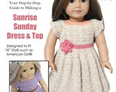 "Download Now - CROCHET PATTERN 18"" Doll Sunrise Sunday Dress and Top"
