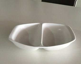 Bennington Pottery/David Gil/Mid Century Art Pottery/ Divide Dish/Mid Century Bennington Potters Vermont/Yusuke Aida/1666/By Gatormom13