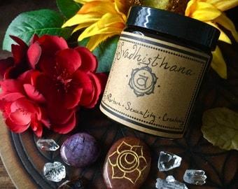 Sacral Chakra (Svadhisthana)- Herbal Incense and Crystals Set