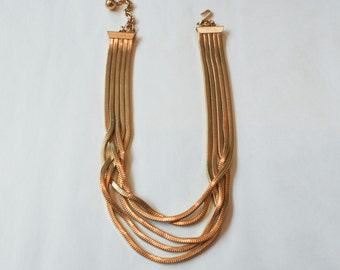 Gold Multi-Stranded Necklace