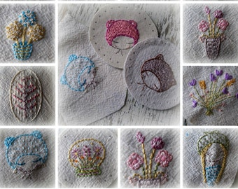 mini embroideries hand embroidery pattern