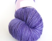 Violet hand-dyed fingering weight yarn   Round Table Yarns Perceval in Tintagel