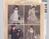 "McCall's 8139 18"" Doll Clothes Pattern-UNCUT-Betsy McCall, American Girl, Götz, Adora, Carpatina, Journey, Madame Alexander, Our Generation"