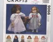 "McCall's 9066 18"" Doll Clothes Pattern - UNCUT - Götz, American Girl, Adora, Carpatina, Journey, Madame Alexander, Our Generation"