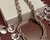 Further SALE.  Vintage Tiffany & Co. 925 Sterling Silver and 18k Gold Twist Rope Bracelet. Stunning. Authentic.