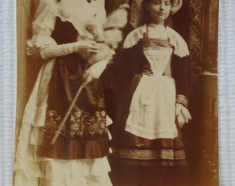 French Antique Photo - Girls Dressed in Costume