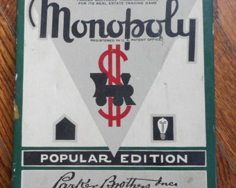 Vintage 1951 Monopoly Game