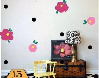 FLOWER Wall Decals / Floral Wall Decals, Wall Decal Flower, Children Wall  Mural,