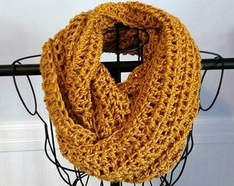 Crochet Infinity Scarf - Yellowstone