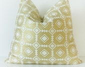 Gold Aztec Pillow Cover