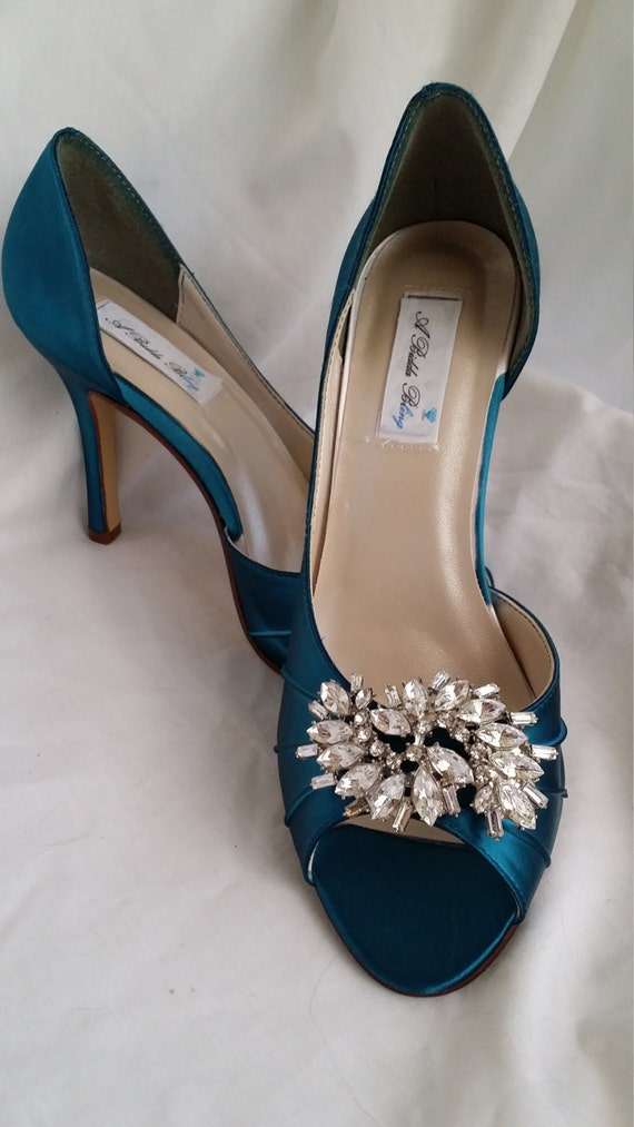 etsy wedding shoes items similar to wedding shoes teal bridal shoes with 3943