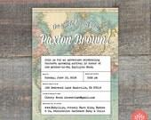 Travel Baby Shower Invitation Printable File, Birthday Party, Wedding Shower, Bridal Shower, Print Yourself