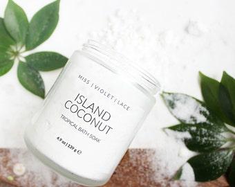 Coconut Bath Milk | Gifts for Mom | Tropical Bath Soak | Spa & Relaxation | Vegan Bath
