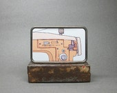 Belt Buckle Vintage Sewing Machine Gift for Men or Women