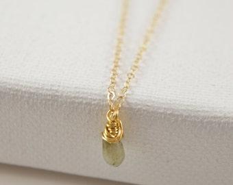 Labradorite Necklace, Teardrop Necklace,  Blue Flash Labrodorite Necklace, Rain Drop Necklace