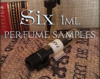 SIX Perfume Oils / 1ml perfume / Choose Your Scents / vegan perfume oil