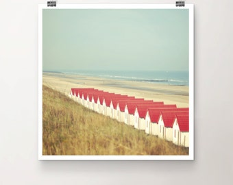 GetAway - Fine Art Print Beach Houses Water Seaside Sky