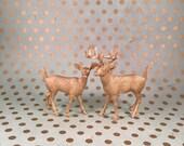 Golden Deer Cake Topper Figurines