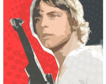 "Luke Skywalker - Star Wars print - Star Wars poster - 13""x19"" or 24""x36"" - Star Wars fan gift - Star Wars art - Luke Skywalker art print"