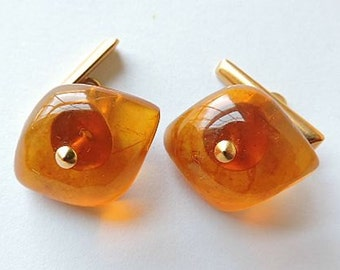 Vintage Amber Cuff Links