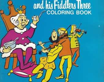 Old King Cole and His Fiddlers Three Vintage Coloring Book, C1960s