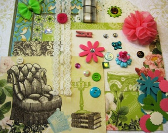 Webster's Pages Ladies & Gents Embellishment Kit, Inspiration Kit, Ephemera Kit for Scrapbook Layouts Cards Mini Albums and Paper crafts 1