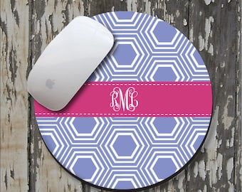 HONEYCOMB Personalized Mouse Pad, Personalized Mousepad, Monogrammed Mouse Pad, Monogrammed Mousepad, Custom Mouse Pad, Custom Mousepad