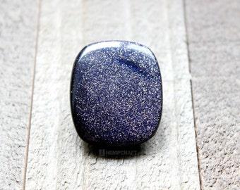 Blue Sandstone Cabochon, Blue Gemstone Cab, Glittery Cabochon, 43.35ct , 33x28mm - Sq