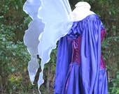 Lifesize Adult WHITE Gossamer FAiRY WiNGS l Hippie Boho Bohemian Goddess Faerie Pixie Tinkerbell Medieval Fantasy Costume dress up CoSPLAY