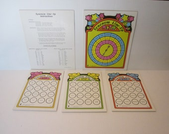 Synonym Line-Up - Educational Game - 1984 Creative Teaching Associates - #6254