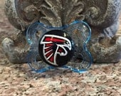Atlanta Falcons Custom Hand Painted Pacifier by PiquantDesigns