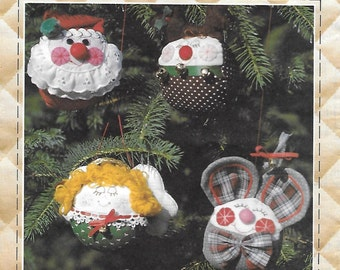 Patch Press Roly Poly Christmas Tree Ornaments Sewing Craft Pattern