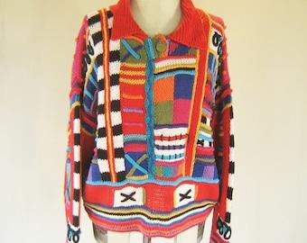 Wacky Wild Chunky Knit Sweater Top