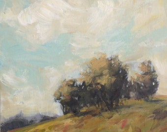 Wispy - 8x8 inches - ORIGINAL Landscape Painting