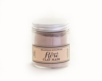 French Rose Clay Mask - Facial Treatment - 4 oz