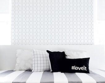 Removable Wallpaper Black Geometric Monochrome Peel and Stick Nursery Kids Wallpaper Self-Adhesive Wallpaper Kids Décor. Hive Wallpaper