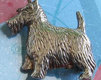 Sterling Silver Scotty Dog Pin Brooch