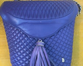 Beautiful vintage 80's Bally Crossbody Bag with Tassel