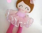Ballerina doll, Handmade cloth doll,Girl gift,Ragdoll,Cloth doll,Fabric doll...Eco-Friendly Doll... sweet ragdoll......READY TO SHIP