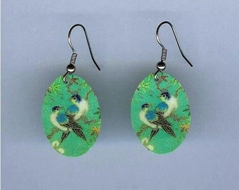 Blue Birds Earrings