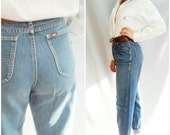 RESERVED  jeans , MOM Jeans , 70s vintage jeans, 70S BAGGY jeans, Grunge Jeans, High Waisted jean,  Pleated Boyfriend Jeans, Medium wash  M