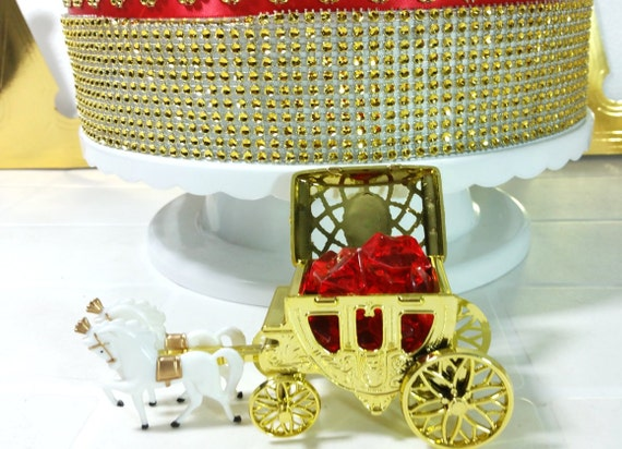 perfect for red and gold prince baby shower theme and decorations