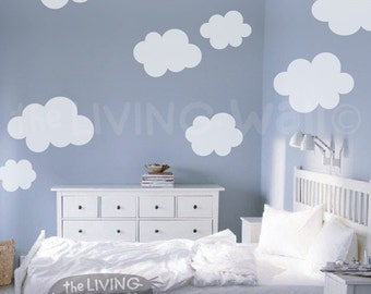 Fluffy Cloud Wall Decals, Cloud Decal, White Cloud Wall Decals, Cloud Nursery Decor