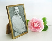 Pretty french vintage frame, small brass frame, French photo frame, picture frame.
