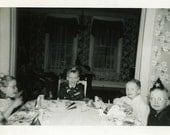 "Vintage Photo ""Happy Birthday"" Snapshot Photo Old Antique Photo Black & White Photograph Found Paper Ephemera Vernacular - 152"
