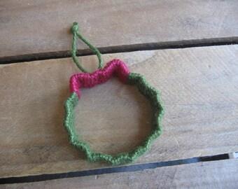 Wreath Twine Ornament, Jute Twine Tree Ornament, Christmas Ornament, Tree Ornament, Primitive Christmas Decor, ATGCele SnowNoseCrafts