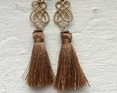 Gold tassel earrings, gold earrings, gold tassel earrings, tassel earrings, dangle earrings, jcrew, jcrew earrings, earrings, jewelry